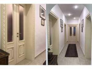 Installazione di Porte per Interni in Legno decorate fiorentine in abitazione privata New Design Porte