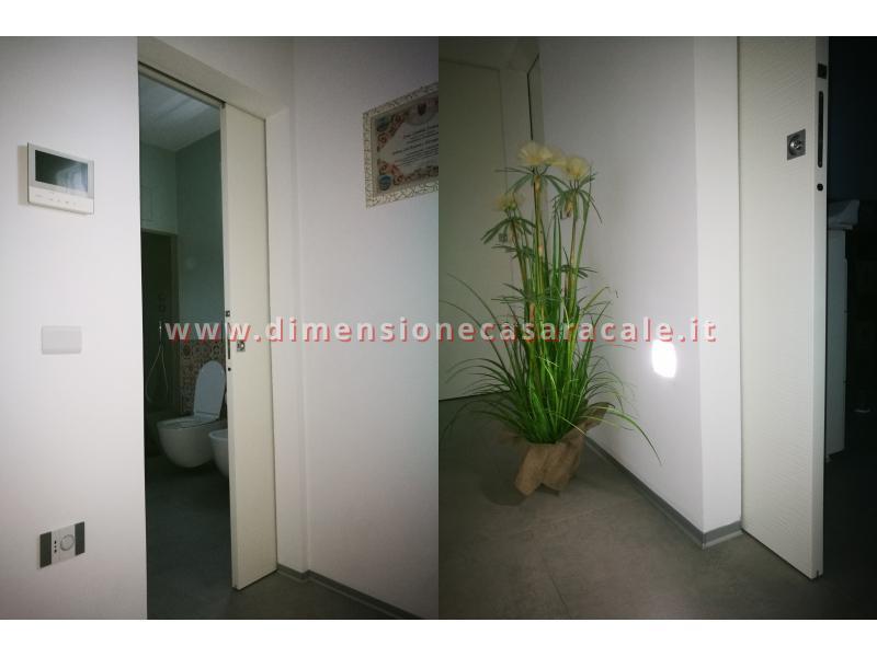 Porte interne tamburate con apertura scorrevole interno muro a scomparsa 10