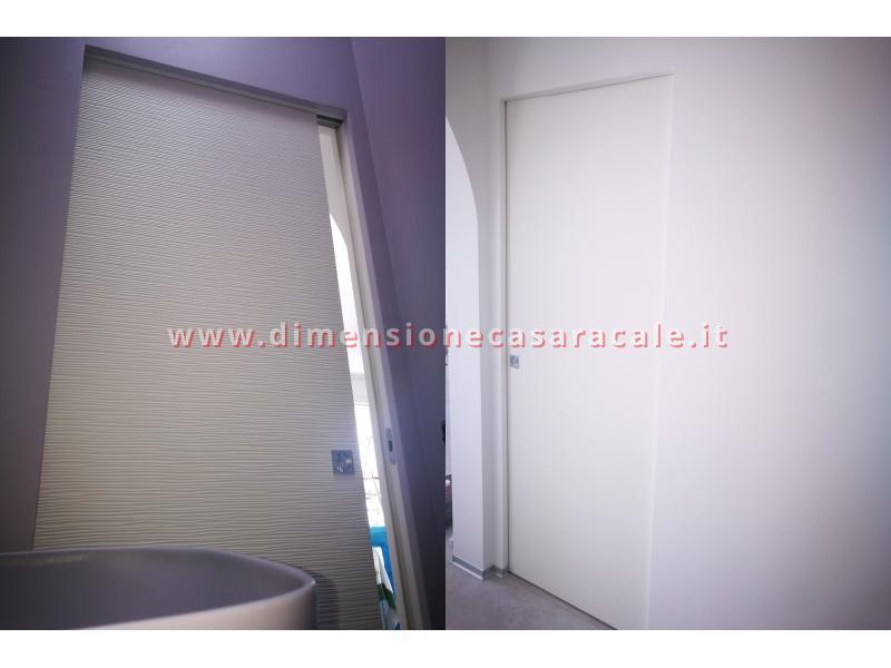 Porte interne tamburate con apertura scorrevole interno muro a scomparsa 8