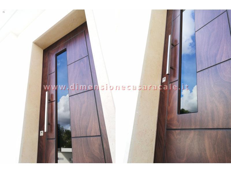 Installazione presso nuova abitazione di portoni in legno Fiore Ebanisteria certificati CE 8