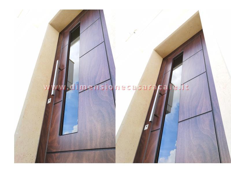 Installazione presso nuova abitazione di portoni in legno Fiore Ebanisteria certificati CE 9